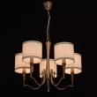 Hängeleuchte, Brass Color / Metal Fabric Cream+Gold /Color Lampshade 5*60W E14 2700 –Ö, 667011005