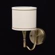 Wandleuchte, Brass Color / Metal Fabric Cream+Gold /Color Lampshade 1*60W E14 2700 –Ö, 667021201