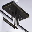 Deckenleuchte, Schwarz+Gold+Chromfarben/Metall Glas 3*60W E27, 673010803