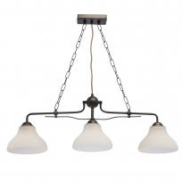 Hängeleuchte, Bronzefarbe / Metall Glas 3*60W E27, 673012203