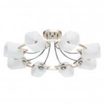 Deckenleuchte, Pear Gold+France Gold/Metal White/Glass 8*60W E14, 673013608