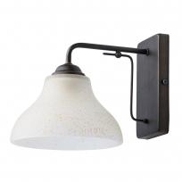 Wandleuchte, Bronzefarbe/Metallglas 1*60W E27, 673022301