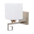 Wandleuchte, Pearl Gold+Französisches Gold/Metall Weiß/Glas 1*60W E14, 673024201