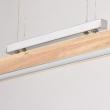 Hängeleuchte, Chromfarben / Metall Holz/Acryl 5*8W Led Smd 3200Lm 3000K Gluehbirne Inklusive, 675011501