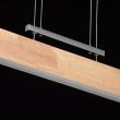 Hängeleuchte, Chromfarben / Metall Holz/Acryl 5*8W Led Smd 3200Lm 3000K Gluehbirne Inklusive, 675011701