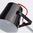 Tischleuchte, Glaenzende Schwarze Farbe / Metall 1*40W E14, 680030601