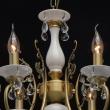 Hängeleuchte, Antique Brass/Metal+Brass Crystal/Ceramics 6*60W E14, 683012406