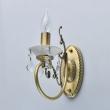 Wandleuchte, Antique Brass/Metal+Brass Crystal/Ceramics 1*60W E14, 683022301