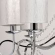 Hängeleuchte, Chrome Color/Metal White Color /Fabric Transparent /Crystal 8*40W E14 2700K, 684010208