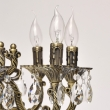 Hängeleuchte, Antique Brass /Metal Transparent /Crystal 10*40W E14 2700K, 685010110
