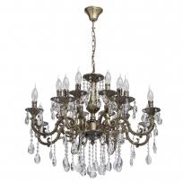 Hängeleuchte, Antique Brass /Metal Transparent /Crystal 16*40W E14 2700K, 685010216