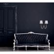 Wandleuchte, Chrome/Metal Transparent/Crystal White/Fabric 2*40W E14, 686020602