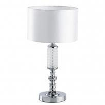 Tischleuchte, Chrome/Metal Transparent/Glass White/Fabric 1*40W E14, 692031501