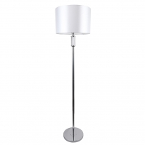 Stehleuchte, Chrome/Metal Transparent/Glass White/Fabric 1*60W E27, 692041601