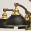 Hängeleuchte, Antique Brass+Black/Metal 6*40W E27 2700K, 694010106