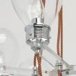 Hängeleuchte, Chrome/Metal Transparent/Glass Transparent/Acrylic 8*5W E14, 699010408
