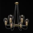 Hängeleuchte, Antique Brass/Metal Transparent/Glass Transparent/Acrylic 6*5W E14, 699010606