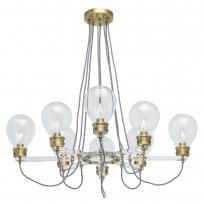 Hängeleuchte, Antique Brass/Metal Transparent/Glass Transparent/Acrylic 8*5W E14, 699010708