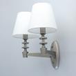 Wandleuchte, Satin Nickel/Metal+Aluminum Transparent/Glass White/Fabric 2*40W E14, 700022602