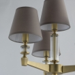 Tischleuchte, Antique Brass/Metal+Aluminum Transparent/Glass Gray/Fabric 4*40W E14, 700032404