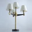 Tischleuchte, Antique Brass+Black/Metal White/Fabric 4*40W E14, 700033604