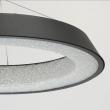 Hängeleuchte, Matt Schwarz/Metall Weiß/Akryl40W Led 3000K 2800Lm Leds Installiert, 703010901