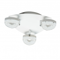 Hängeleuchte, Matt White/Metal Matt White/Plastic White Matt/Acrilic 3*4W Led 3000K Ip20, 704011203