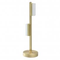 Tischleuchte, Matt Gold/Metall Weiß/Akryl2*5W Led 3000K, 704035602