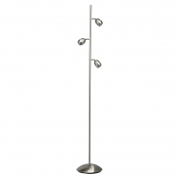 Stehleuchte, Satin Nickel /Metall Satin Nickel/Plastik Weiß/Akryl 3*4W Led 3000K Ip20, 704040503