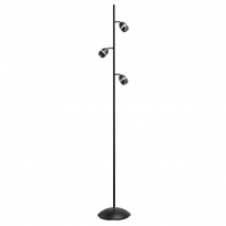 Stehleuchte, Matt Black/Metal Matt Black/Plastic White/Acrilic 3*4W Led 3000K Ip20, 704040603