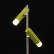 Tischleuchte, Satin Nickel+Grün/Metall Kaltes/Akryl2*5W Led Cob 3000K Leds Installiert, 705030402