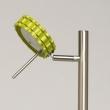 Stehleuchte, Satin Nickel+Grün/Metall Kaltes/Akryl3*5W Led 3000K Leds Installiert, 705040303