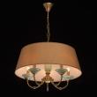 Hängeleuchte, Honey Brass/Metal Green/Ceramics Light Brown/Fabric 5*40W E14, 713010205