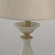 Tischleuchte, Antique Brass/Metal Gray/Ceramics Gray/Fabric 1*40W E14, 713030801