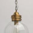 Hängeleuchte, Antique Brass/Metal Transparent/Glass 1*40W E27, 720010101