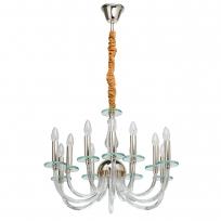 Hängeleuchte, S Gold/Metal Transparent/Glass 12*40W E14, 720010812