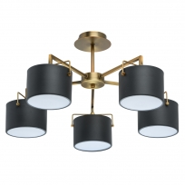 Hängeleuchte, Antique Brass/Metal Matt Black/Metal+Acrylic 5*40W E14 2700K, 721010205