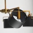 Hängeleuchte, Antique Brass/Metal Matt Black/Metal+Acrylic 5*40W E14 2700K, 721010205