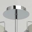Hängeleuchte, Chrome/Metal Matt White/Metal+Acrylic 8*40W E14 2700K, 721010308