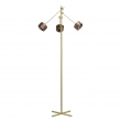 Stehleuchte, Satin Gold/Metal+Wood Frost/Acrylic 3*5W Led 1500 Lm 3000K Leds Installed Dimmer, 725040803