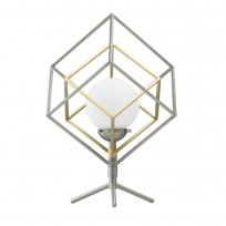 Tischleuchte, Matt Satin Nickel+Satin Bronze/Metall Matt White/Glass 5W Led 3000K, 726030401