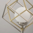 Stehleuchte, Matt Satin Nickel+Satin Bronze/Metall Matt White/Glass 7W Led 3000K, 726040501