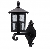 Wandleuchte, Black+Brown/Metal Glass/Frosted 1*60W E27, 806020801