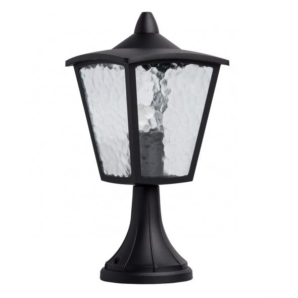 Stehleuchte, Schwarz/Metall Glasklar/Glas 1*60 W E27 2700K Ip44, 806040401