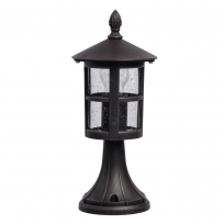 Tischleuchte, Black+Brown/Metal Glass/Frosted 1*60W E27, 806040901