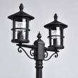 Stehleuchte, Black+Brown/Metal Glass/Transparent 2*60W E27 Ip44, 806041202