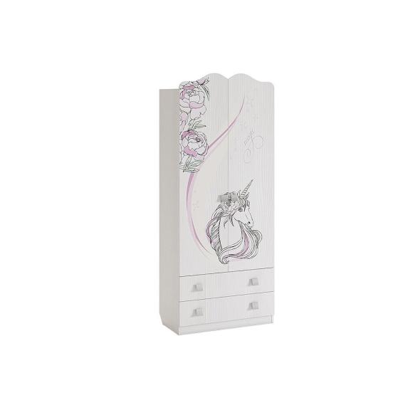 """Шкаф комбинированный 2-дверный с выдвижными ящиками """"Фэнтези"""""""