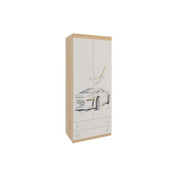 """Шкаф 2-дверный комбинированный с выдвижными ящиками """"Форсаж"""""""