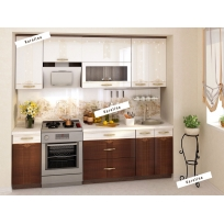 Кухонный гарнитур Каролина 10 (ширина 240 см)