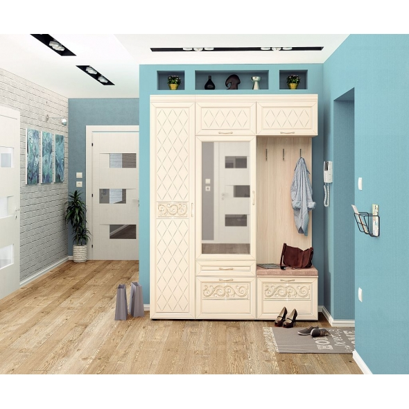 Набор мебели для прихожей Тиффани 3 (ширина 165 см)